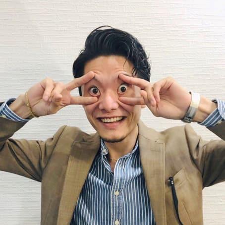傳田マネージャーの笑顔